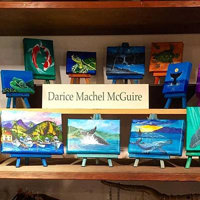 Artist Wall Art - Photograph - A Few Of My Miniature #paintings On by Darice Machel McGuire