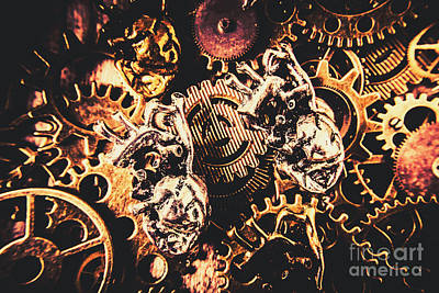 Steampunk Wall Art - Photograph - A Fiction In Machine Love by Jorgo Photography - Wall Art Gallery