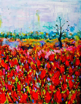 A Field Of Flowers # 2 Art Print