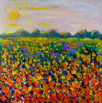 A Field Of Flowers #1 Art Print