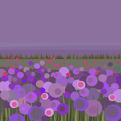 Digital Art - A Field Of Purple by Val Arie