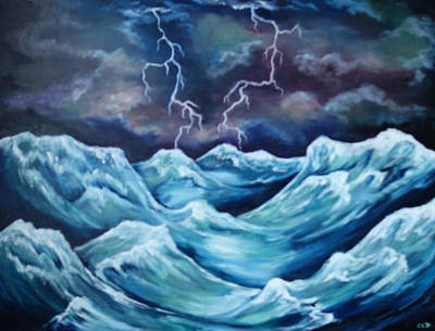 Painting - A Fierce Beauty by Cheryl Pettigrew