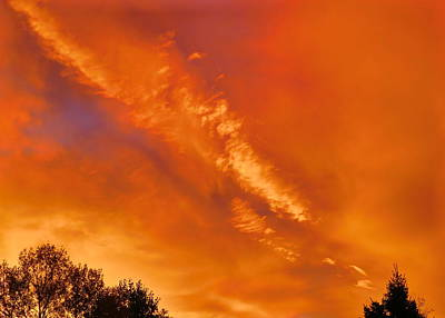 A Fiery Colorado Sky Art Print
