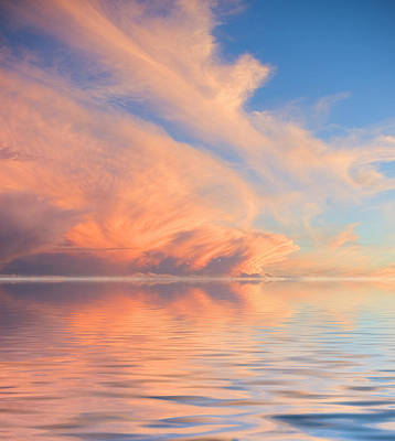 Nautical Photograph - A Fiery Horizon by Jerry McElroy