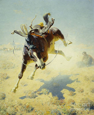 Prairie Sky Painting - A Fighting Cyclone by William Robinson Leigh