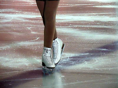 A Figure Skater's Finish Print by Anthony Dooley