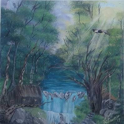Bob Ross Style Painting - A Fine Balance by Lori Lafevers