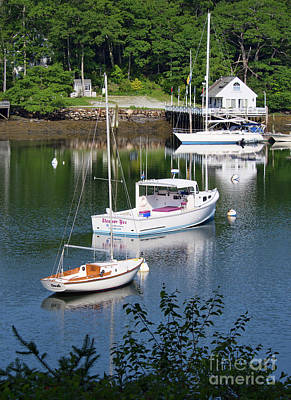 Photograph - A Fine Summer Morning, Boothbay, Maine #40017 by John Bald