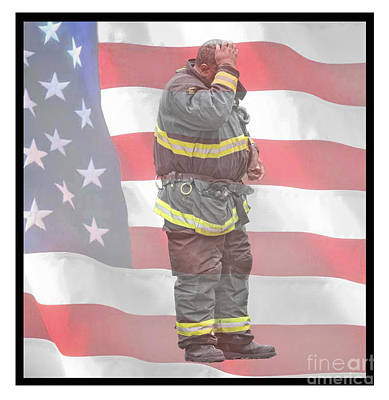Photograph - A Fire Fighter After A Long Hard Call II by Jim Fitzpatrick