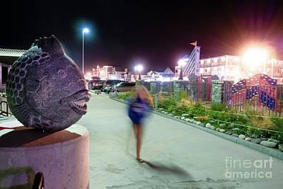 Photograph - A Fish And A Girl, Hampton Beach, Nh #110529 by John Bald
