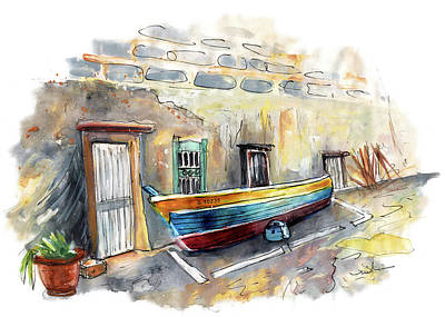 Painting - A Fisherman Boat In Valletta by Miki De Goodaboom