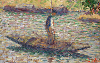 Painting - A Fisherman by Georges Seurat