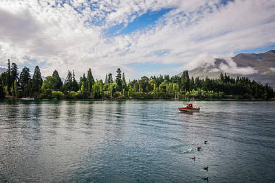 Photograph - A Fishing Boat On The Shore Of Lake Wakatipu by Daniela Constantinescu