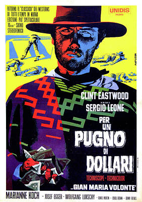 Sergio Leone Digital Art - A Fistful Of Dollars by Movieworld Posters