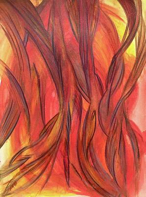 Drawing - 'a Flame' by Kelly K H B