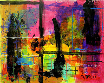 Acrylics Mixed Media - A Fleeting Thought by Teddy Campagna