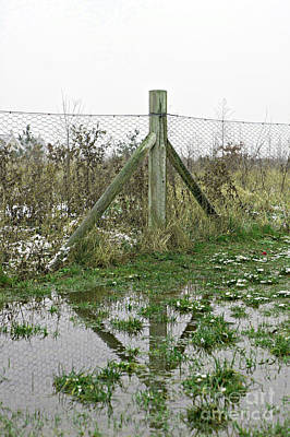 Floods Photograph - A Flooded Field by Tom Gowanlock