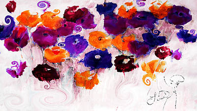 Digital Art - A Floral Moment Acylic by Lisa Kaiser