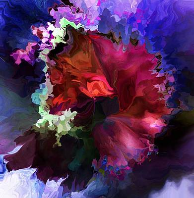 Digital Art - A Floral Sunday Doodle by David Lane