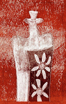 Wine Mixed Media - A Floral Wine by Frank Tschakert