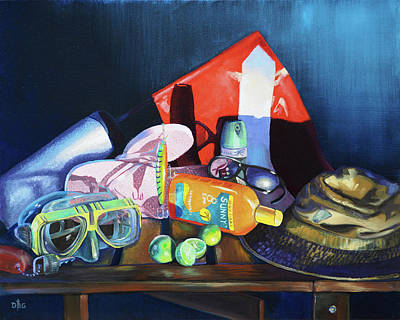 Painting - Still Life Of The Florida Keys by David Bader