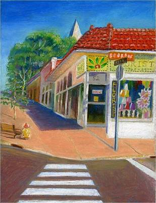 Painting - A Florist At Webster Grove by Ping Yan
