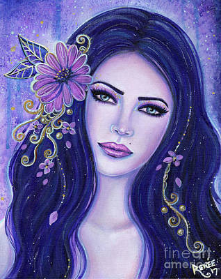 Painting - A Flower In The Night by Renee Lavoie