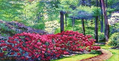 Painting - A Flower Path For Your Love by David Lloyd Glover
