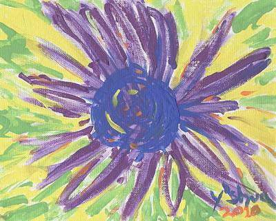A Flower Art Print by Yshua The Painter