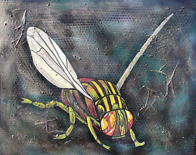 Painting - A Fly by Sarah Crumpler