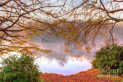 Photograph - A Foggy Autumn On Price Lake In The Blue Ridge by Dan Carmichael