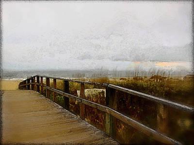 Digital Art - A Foggy Day by Gina Harrison