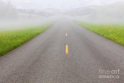 Photograph - A Foggy Day In The Blue Ridge Mountains by Dan Carmichael