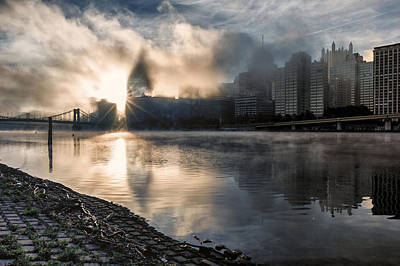 Photograph - A Foggy Morning In Pittsburgh by Lori Coleman