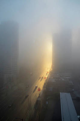 Photograph - A Foggy Start To The Day In Vancouver by Ross G Strachan