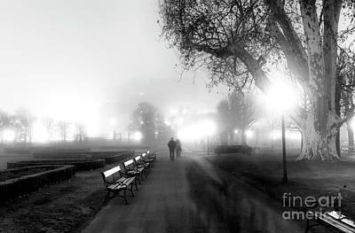 Photograph - A Foggy Walk In The Volksgarten by John Rizzuto