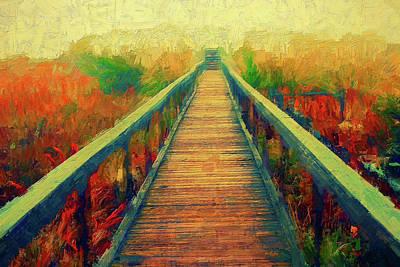 Painting - A Foggy Walk On The Beach Ap by Dan Carmichael