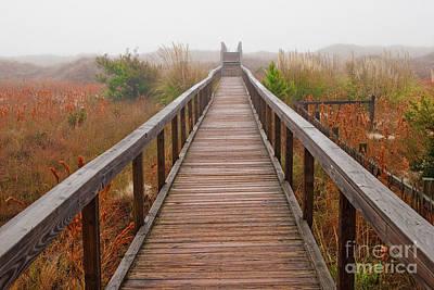 Photograph - A Foggy Walk On The Beach by Dan Carmichael