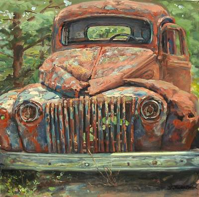 A Ford Of Many Colors Original by Sharon Jordan Bahosh