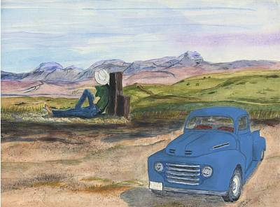 Painting - A Ford by Sara Stevenson