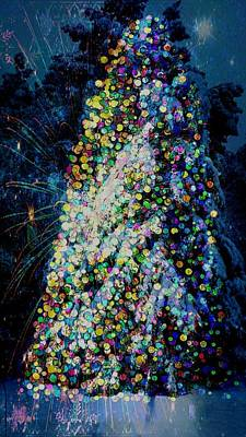 A Forest Tree Of Lights Art Print