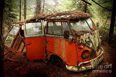 A Forgotten 23 Window Vw Bus  Art Print by Michael David Sorensen