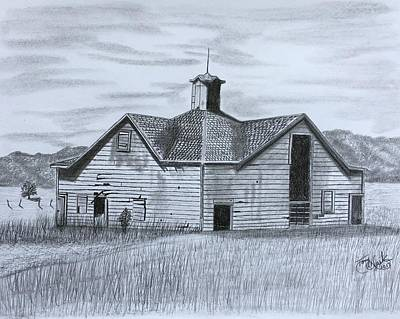 Drawing - A Forgotten Past by Tony Clark