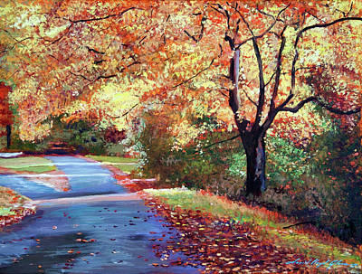 Painting - A Fork In The Road by David Lloyd Glover