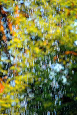 Photograph - A Fountain's Falling Water by Cora Wandel