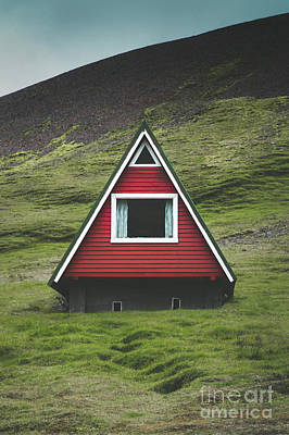 Photograph - A-frame Cabin by JR Photography