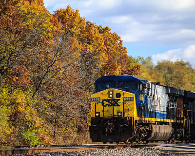 Photograph - A Freight Train Runs Through It by Joni Eskridge