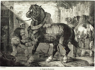Painting - A French Farrier by Theodore Gericault