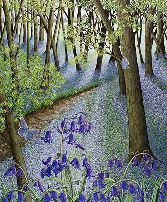 Bluebells Painting - A Fresh Start by Pat Scott