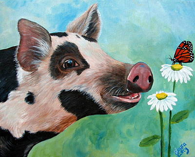 Painting - A Friend For Pippy by Laura Carey